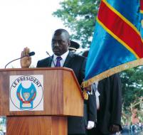 Le Président de la République lors de sa prestation de serment.