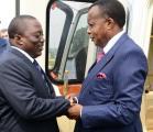 Le président Joseph Kabila et son homologue Denis Sassou Nguesso à Kinshasa. PRESSE PRESIDENTIELLE.